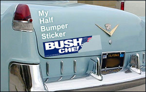 My Half Bumper Sticker